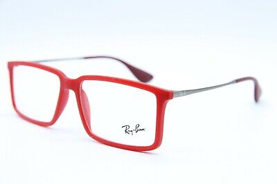 54c5a603e8 NEW RAY-BAN RB 7043 5468 RED AUTHENTIC EYEGLASSES RX RB7043 Rx 54-14
