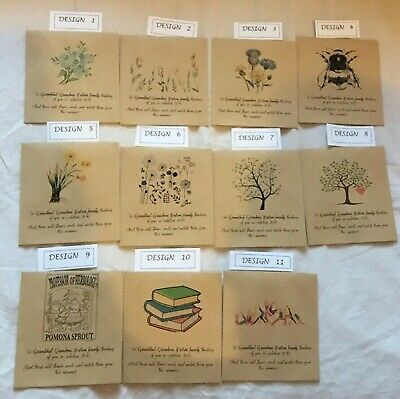 10 x 20 x Wildflower Seed Memorial Favours Packets PERSONALISED Vintage favour