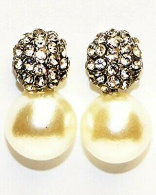 Buyless Fashion Surgical Steel Rhodium Plated Girls Hanging bow Earrings With Dangling Pearl