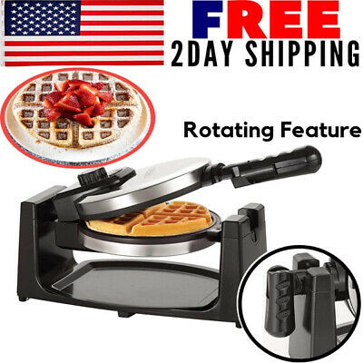 Electric Waffle Recipe Maker Machine Belgian Breakfast Non Stick Double Iron