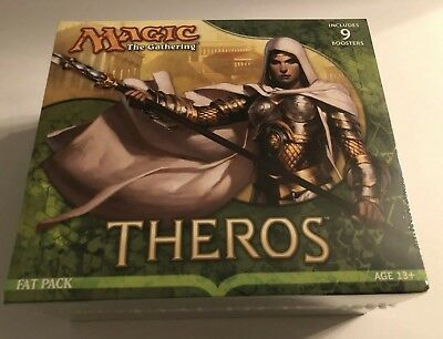 Magic the Gathering THEROS Fat Pack *FACTORY SEALED* 9 Booster Packs