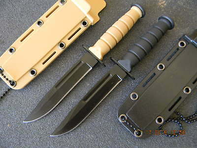 """6"""" (2pcs Set)Mini Combat Boot/Neck Knife With Necklace Bowie Type Blade"""