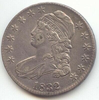 1832 Capped Bust Half Dollar, Lustrous XF-AU, Small Letters