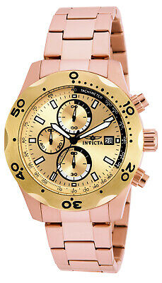 Invicta 17755 Men's Specialty Chronograph Gold Dial Bracelet Watch
