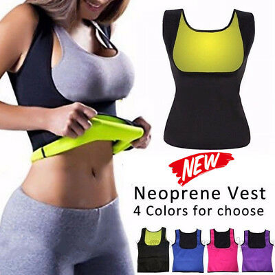 Women Body Hot Vest Slimming Redu Vests Shirt Underbust Corset Sauna Shaper Cami