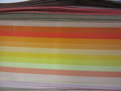 QUILLING PAPER 110gsm 1.5mm 500 Strips - 17 MIXED AUTUMN COLOURS