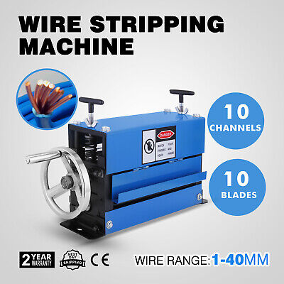 Copper Wire Stripping Machine Cable Stripper Scrap Metal Recycle Tool 1-40mm