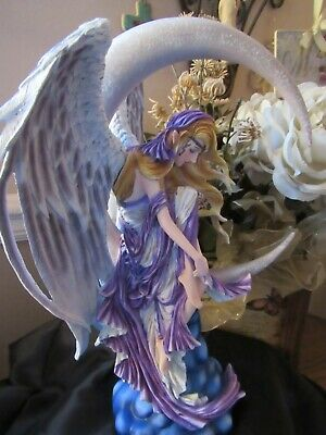 Nene Thomas MOON DREAMER Fairy Figurine on Moon by Pacific Giftware NEW RELEASE!