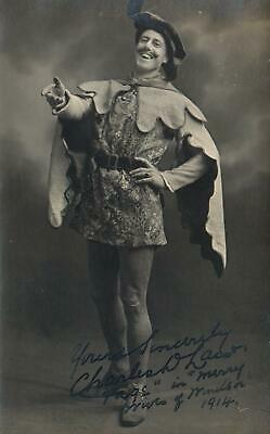 1914 ORIGINAL SIGNED PHOTO POSTCARD CHARLES LAW - Page in MERRY WIVES of WINDSOR