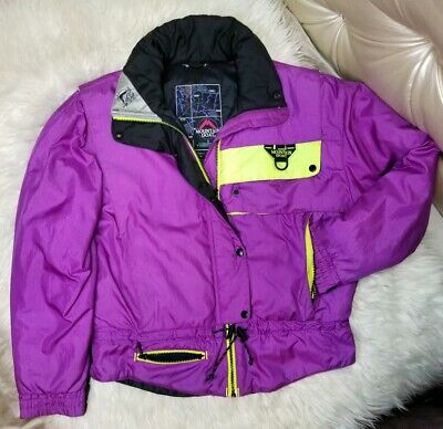 57fab5144b Vintage Mountain Goat Womens Neon Purple Pink Puffer Snow Ski Jacket M 80s  90s