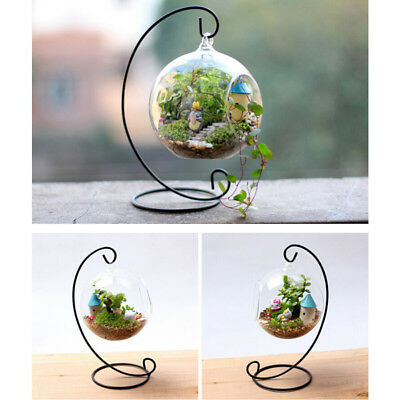 Spiral Plant Display Stand Iron Stand Rack for Hanging Terrarium Christmas Decor