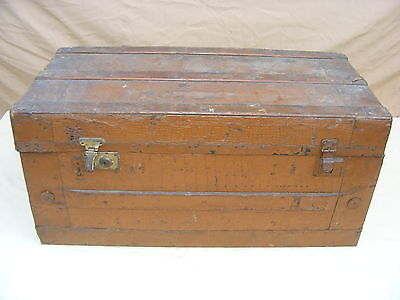 Large Old Chest Suitcase Box Steamer Trunk, Treasure Chest Travel Cases