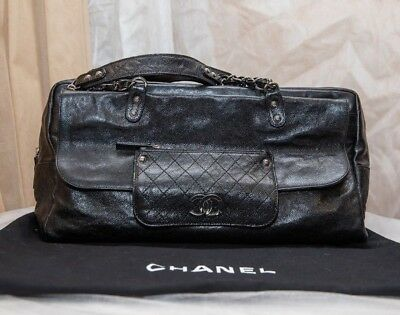 90fab04c27d9 VERIFIED AUTHENTIC CHANEL Quilted Glazed Caviar Leather Tote Bag ...