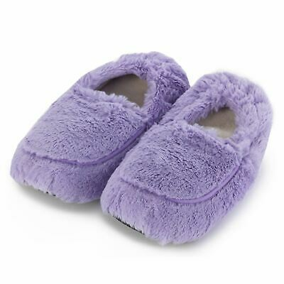 Warmies Cozy Lilac Slippers Heatable Microwavable Plush Foot Bed Warmer Gift