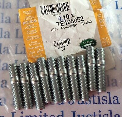 TE108052: 10 X Genuine Land Rover Def & Disco Td5 Exhaust Manifold Studs Inc.VAT