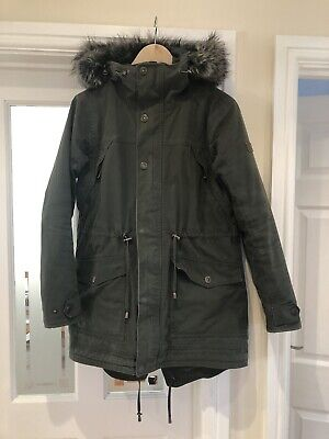 9063b1d4f WOMEN'S INSULATED OLIVE green coat by Utex Design size L - $12.00 ...