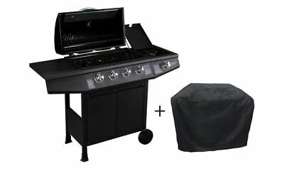CosmoGrill 4+1 Large Outdoor Gas Barbecue BBQ Grill plus Side Burner W/Cover
