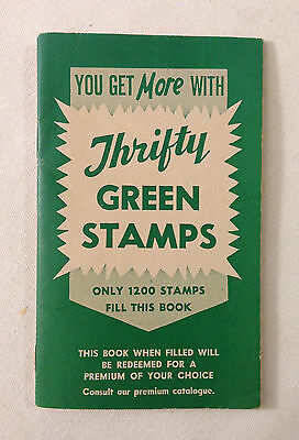 Thrifty Green Stamps book - UNused !  Offices in: Fresno, CA & Portland, OR