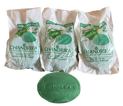 Original Indian Chandrika Soap x 3(THREE) Bars Classic-Skin Body Spots