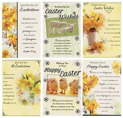 Open Sending Easter Wishes Easter Cards Various Designs  1St P&P
