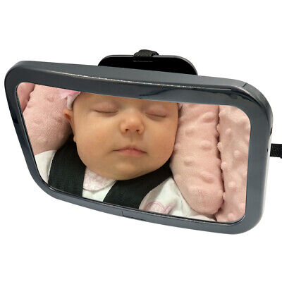 Evelots Baby Car Mirror Rear/Front Facing-Adjustable Straps-Attach to Headrest