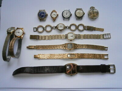 Job lot of vintage ladies watches mechanical watches working spares or repair