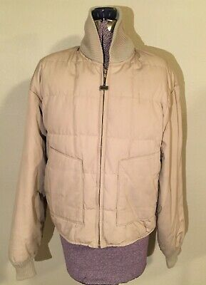 Vintage Walls Blizzard Pruf Puffer Jacket - Tan - Down Insulated - Men's L - USA