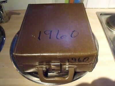 Retro/vintage Travel/luggage P A C L/cheney England Suitcase/instrument Case