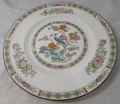 "Wedgwood Bone China Kutani Crane Dinner Plate 10-3/4"" R4464"