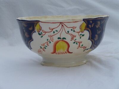Early Gaudy Welsh Bowl - Tulip Pattern, superb condition with no damage