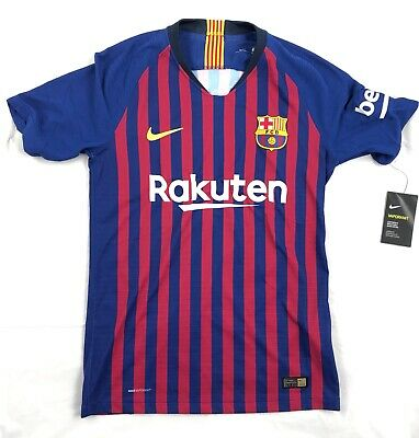 the latest e3888 e33a7 NIKE FC BARCELONA Vapor Knit Home Match Soccer Jersey Blue Red White Mens  Medium