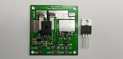 DC switch and current sensor board for LDMOS MOSFET amplifier