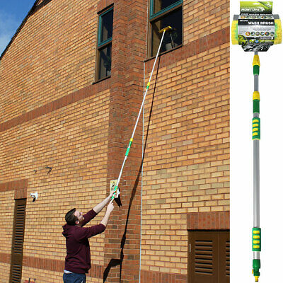 3M Watered Telescopic Extendable Window Cleaning Pole Conservatory Window Roof*