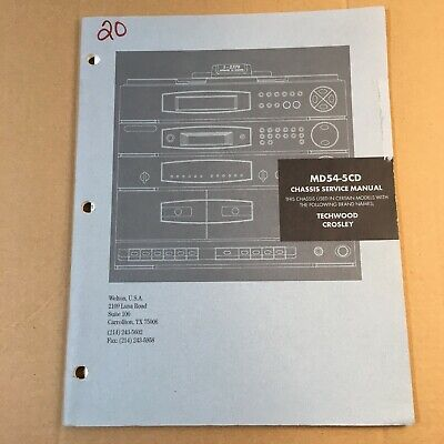 Chassis Service Manual for MD54-5CD Techwood Crosley