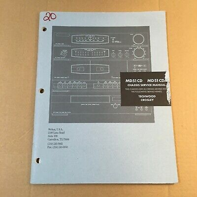 Chassis Service Manual for MD51CD / MD51CDA Techwood Crosley