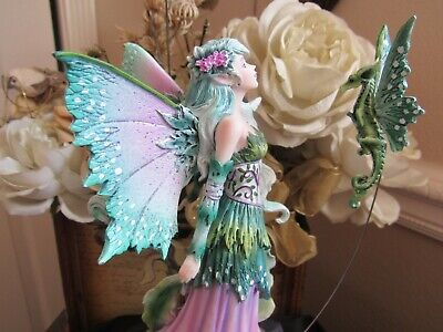 Amy Brown DISCOVERY Fairy Figurine & dragon by Pacific Giftware NEW 2019 RELEASE