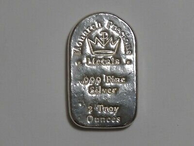 2 oz Silver Tombstone Bar - Monarch Metals MPM - Two Ounce 999