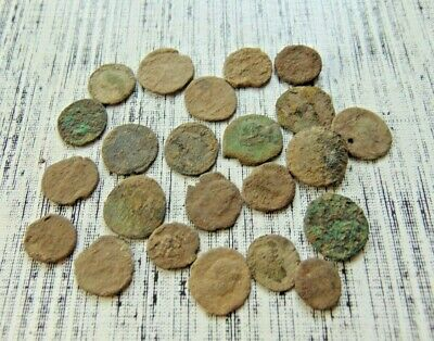 23 pieces to be cleaned Roman coins LOT!