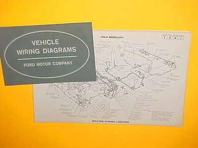 original 1963 mercury monterey car sales postcard dealer promo1963 mercury monterey marauder s 55 colony park factory original wiring diagrams