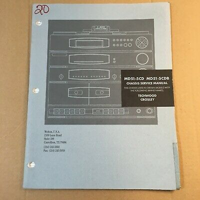 Chassis Service Manual for MD51-5CD / MD51-5CDB Techwood Crosley