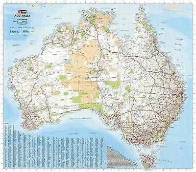 Mega MAP Of Australia Giant POSTER (148x169cm) Wall Chart Picture Print New Art