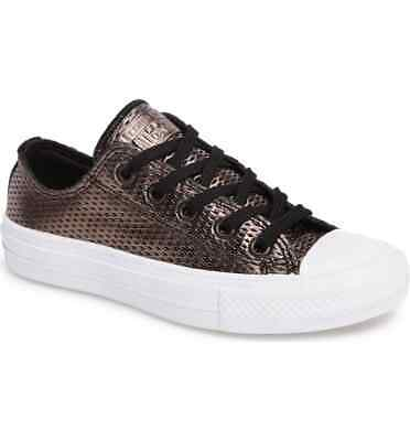 674c41eebc21 Converse Chuck Taylor II All Star Perforated Metallic Low Top Sneakers  555799C