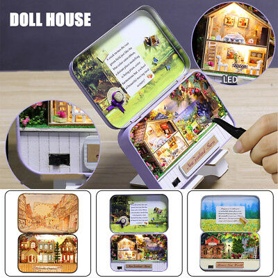 DIY Dollhouse Miniature 3D Doll House Kit Box Theatre Handcraft Gift Home Decor