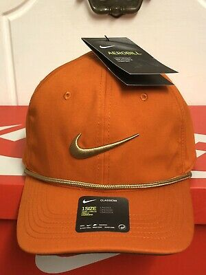 69e5f30152ea6 NWT NIKE GOLF Aerobill Classic 99 Rope Cap Hat orange - £14.99 ...