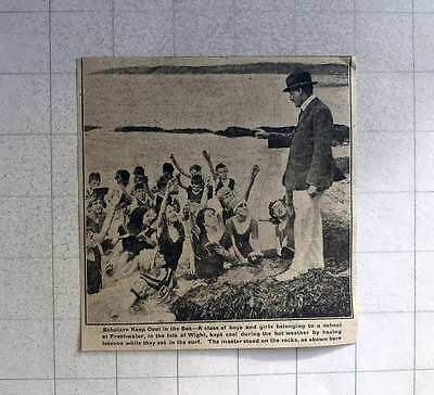 1921 Scholars Of Freshwater Isle Of Wight Keeping Cool In Rock Pool Lesson