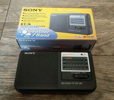 Sony Model ICF-36 AM  FM  TV  Weather Multi-Band Portable Radio Receiver