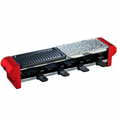 H.Koenig - Raclette-grill con piedra natural para 4 [RP4] [Rouge] NEUF