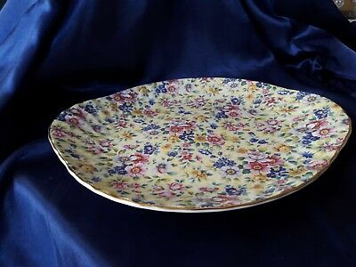 Staffordshire Chintz Collection Royale Garden Plate. England.