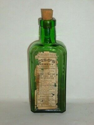 Nice Old Piso's Cannabis Pharmaceutical Controlled Substance Medicine Bottle