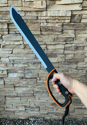 "24""Jungle Machete,Outdoor,Camping, Survival Fixed Blade Knife Saw back"